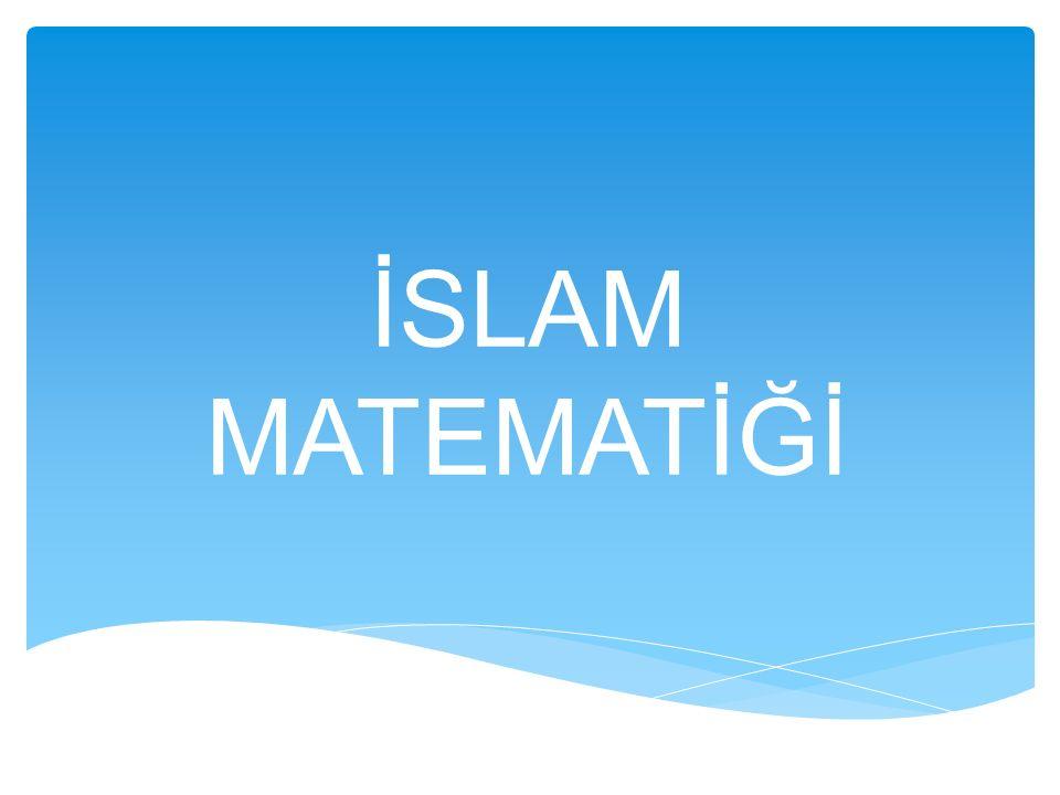 İSLAM MATEMATİĞİ