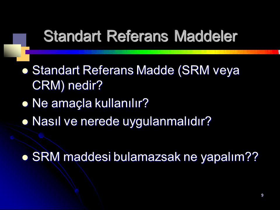Standart Referans Maddeler