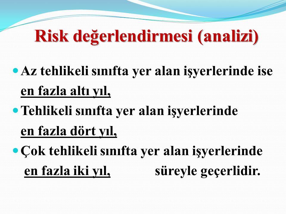 Risk değerlendirmesi (analizi)