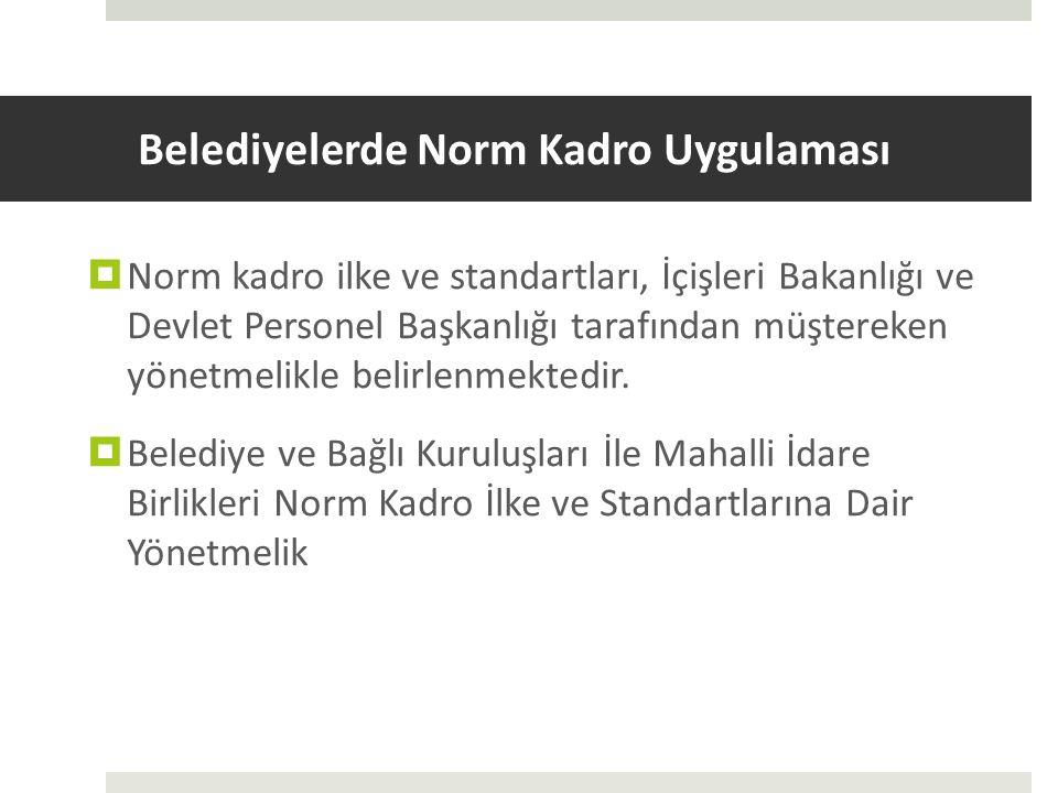 Belediyelerde Norm Kadro Uygulaması