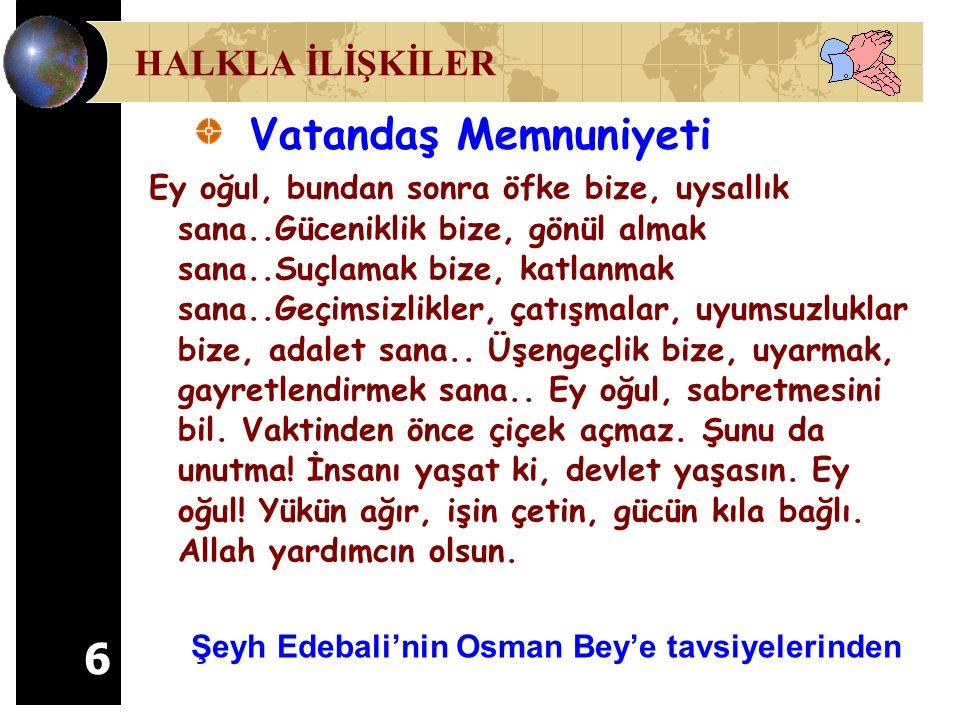Şeyh Edebali'nin Osman Bey'e tavsiyelerinden