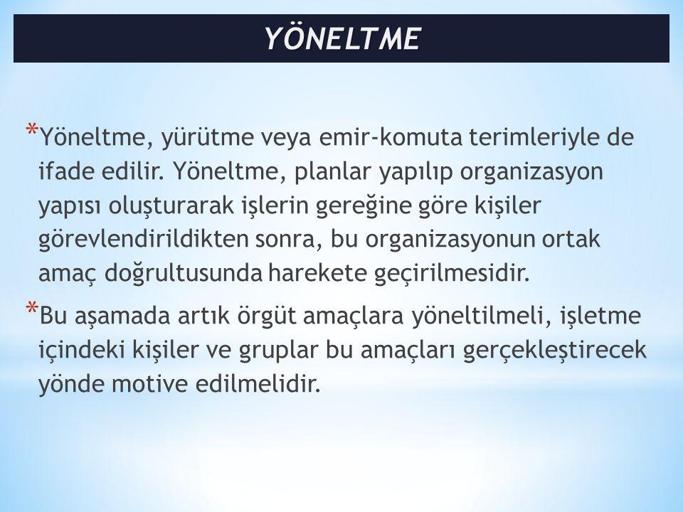YÖNELTME