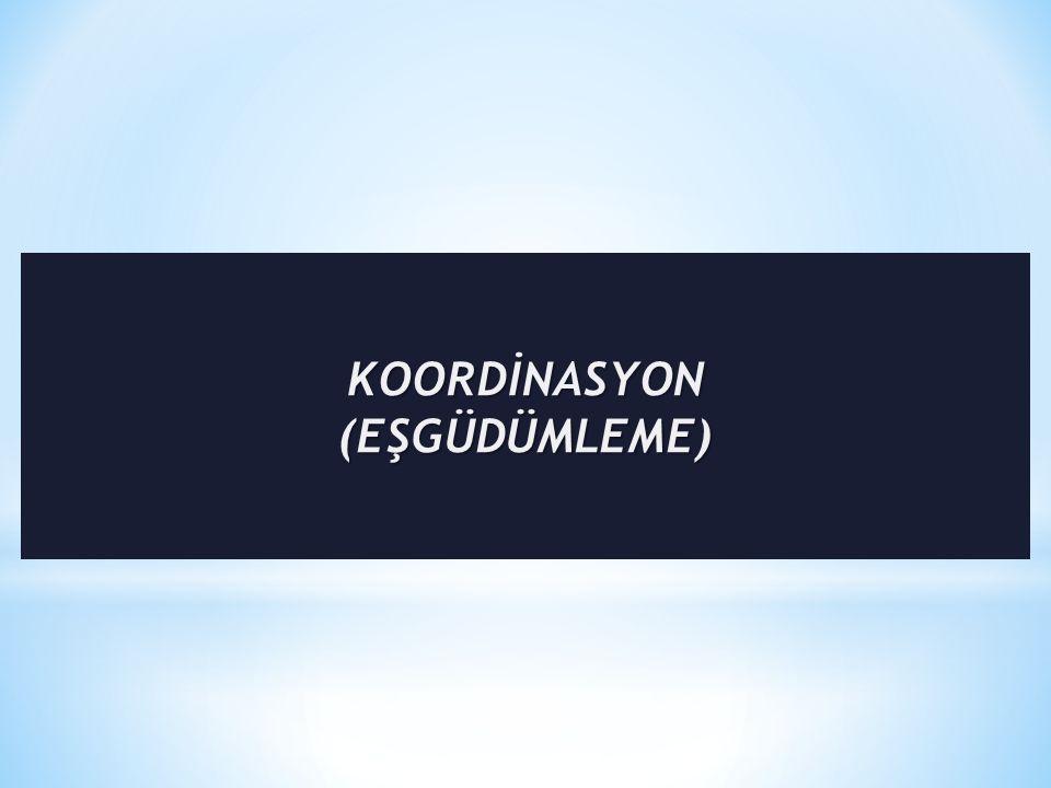 KOORDİNASYON (EŞGÜDÜMLEME)