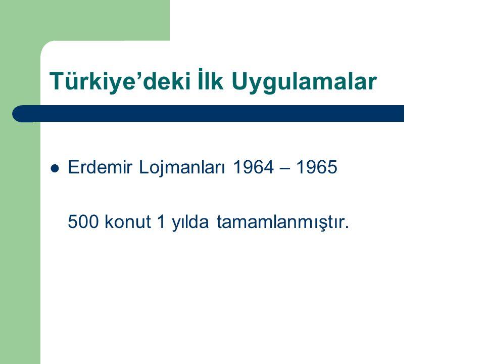 Türkiye'deki İlk Uygulamalar