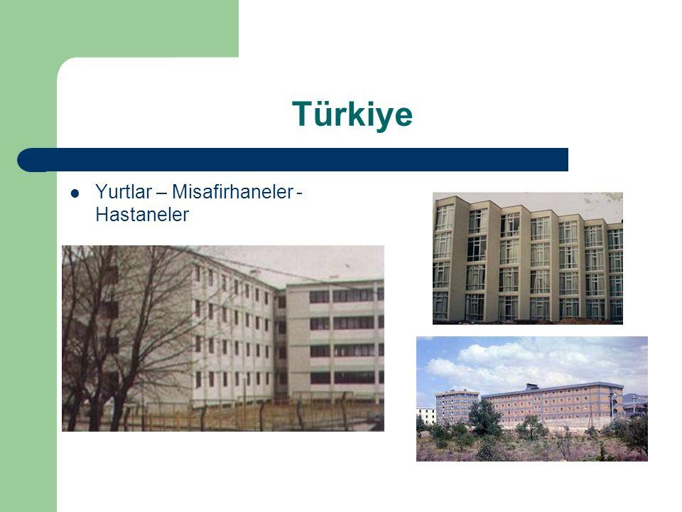 Türkiye Yurtlar – Misafirhaneler - Hastaneler