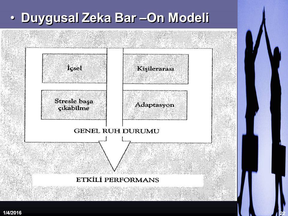 Duygusal Zeka Bar –On Modeli