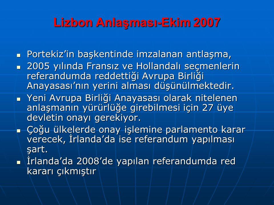 Lizbon Anlaşması-Ekim 2007