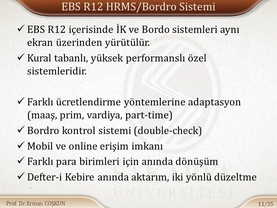 EBS R12 HRMS/Bordro Sistemi