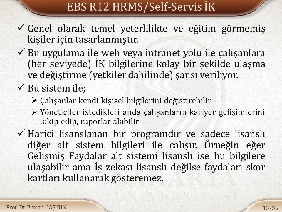 EBS R12 HRMS/Self-Servis İK