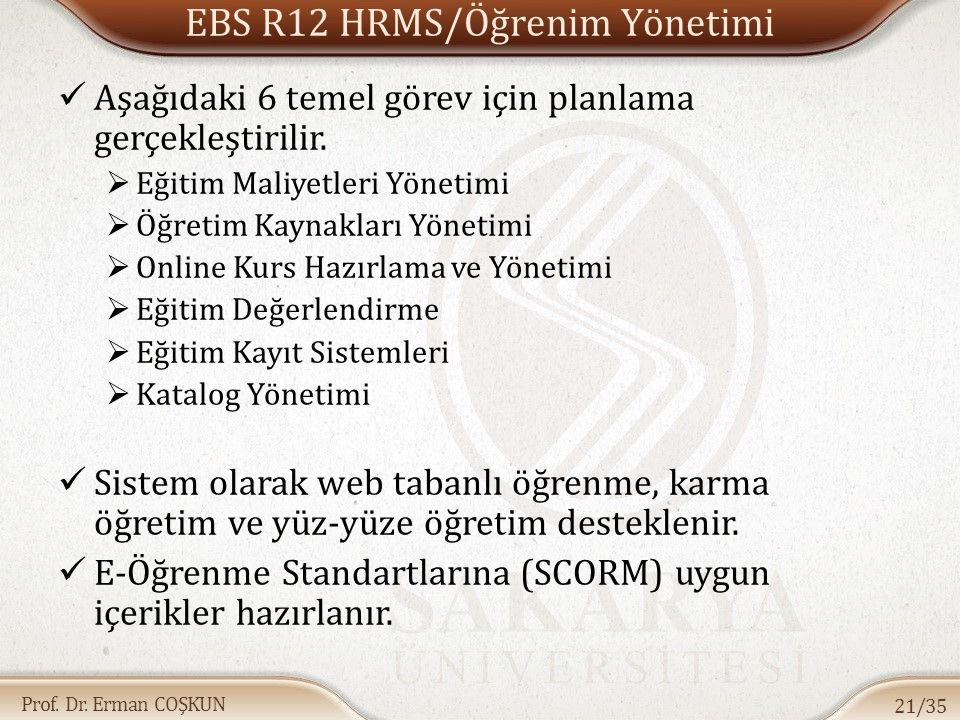 EBS R12 HRMS/Öğrenim Yönetimi