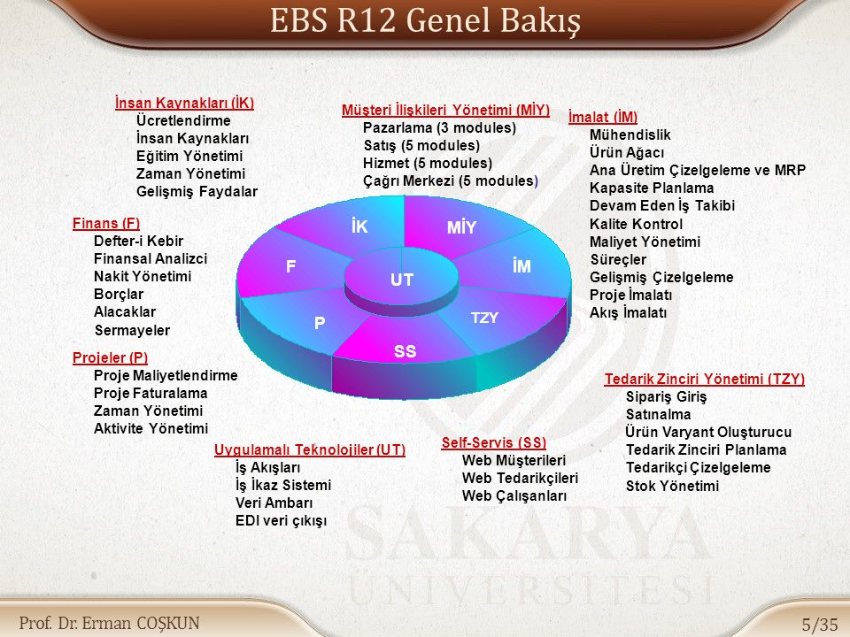 EBS R12 Genel Bakış İK MİY F İM UT P SS TZY İnsan Kaynakları (İK)