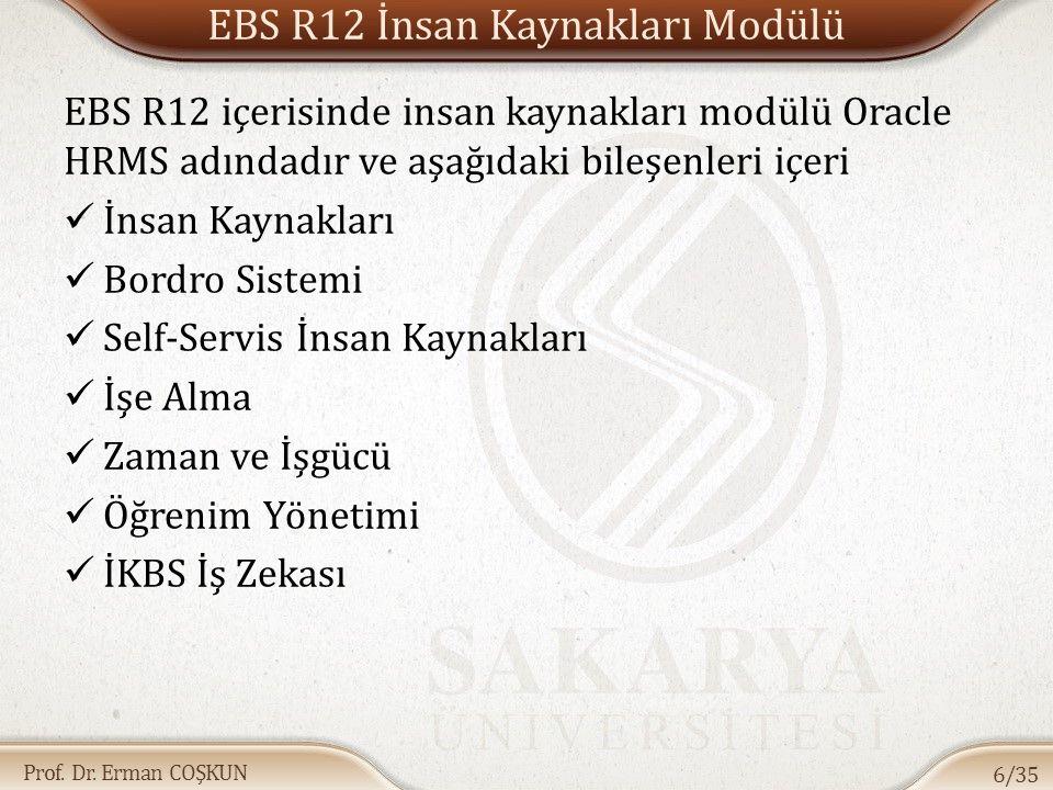 EBS R12 İnsan Kaynakları Modülü