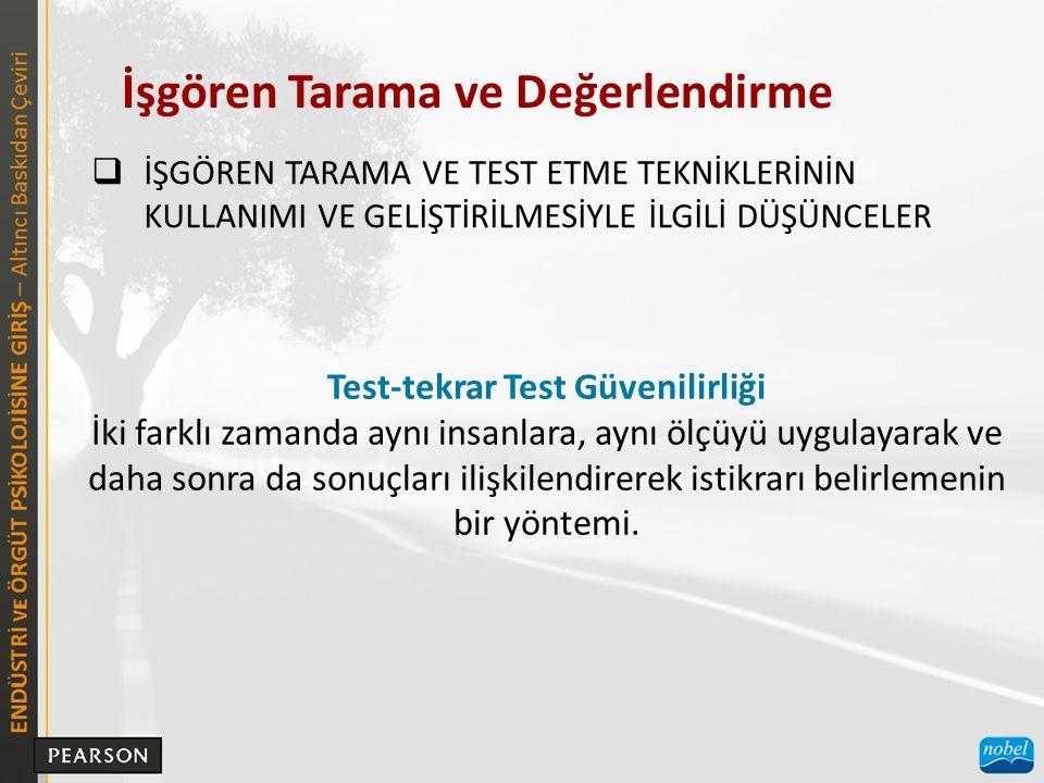 Test-tekrar Test Güvenilirliği