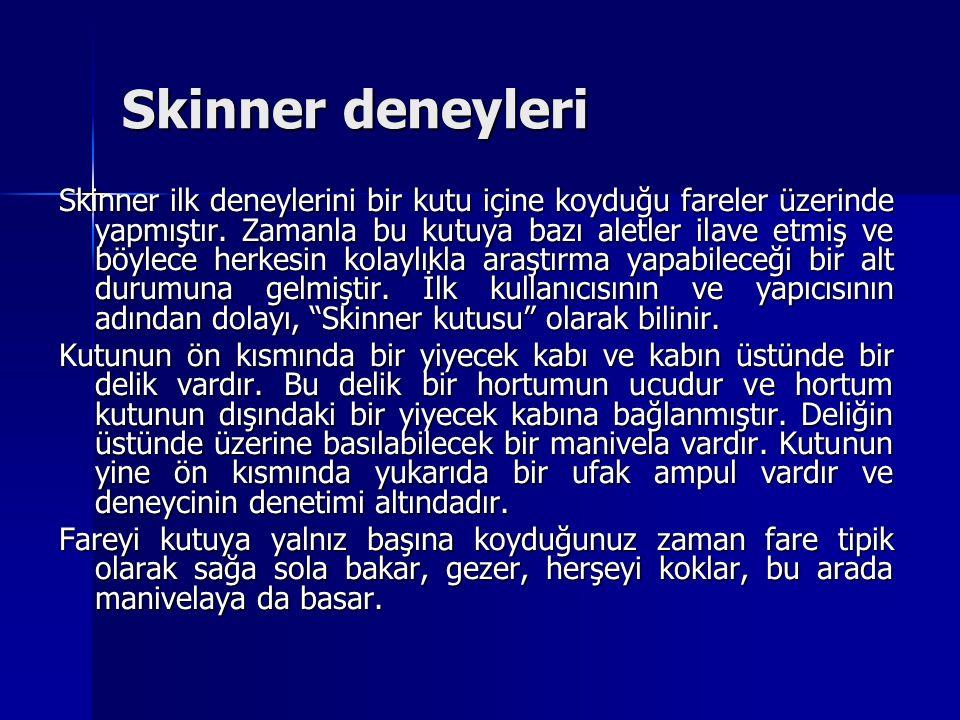 Skinner deneyleri