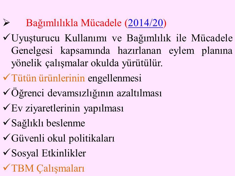 Bağımlılıkla Mücadele (2014/20)