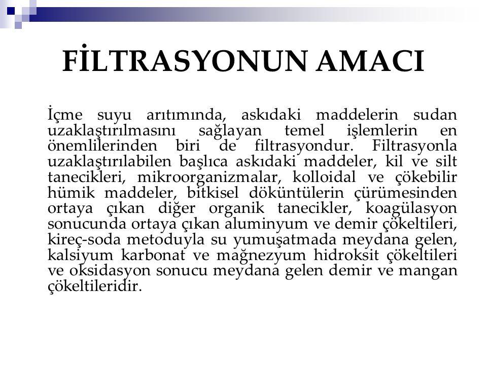 FİLTRASYONUN AMACI