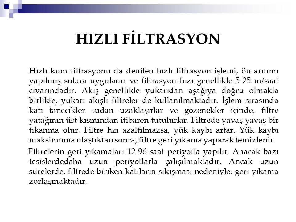 HIZLI FİLTRASYON