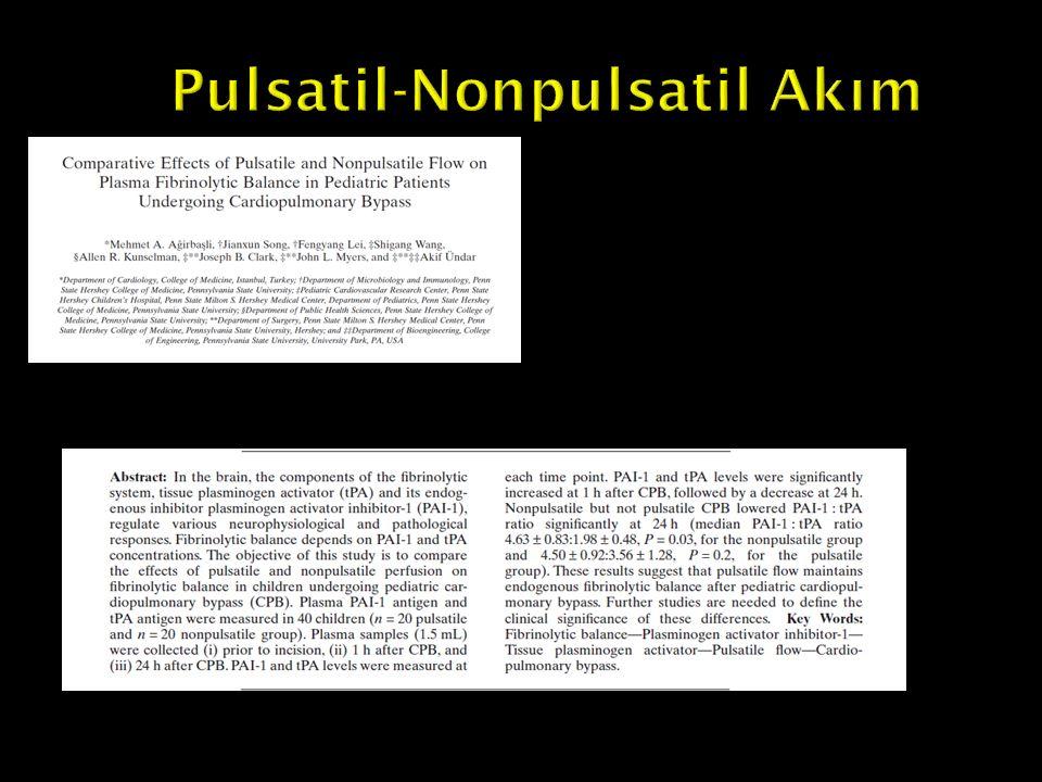 Pulsatil-Nonpulsatil Akım