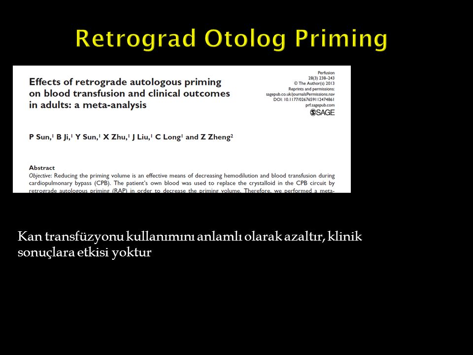 Retrograd Otolog Priming