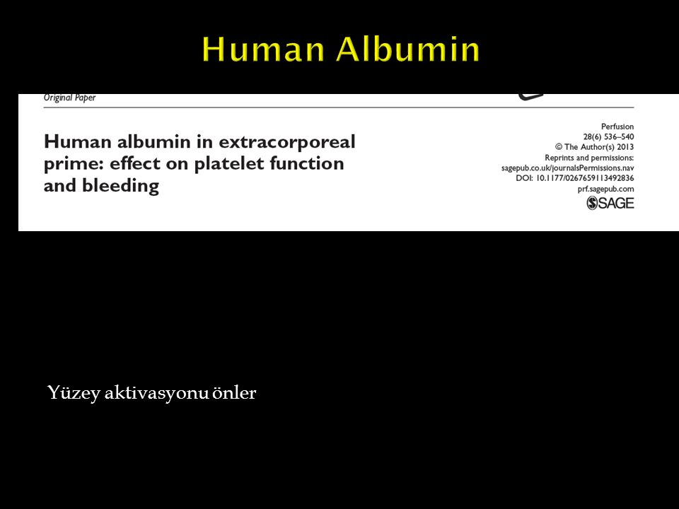 Human Albumin Yüzey aktivasyonu önler