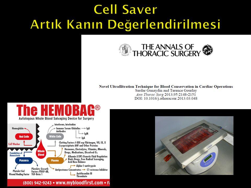 Cell Saver Artık Kanın Değerlendirilmesi
