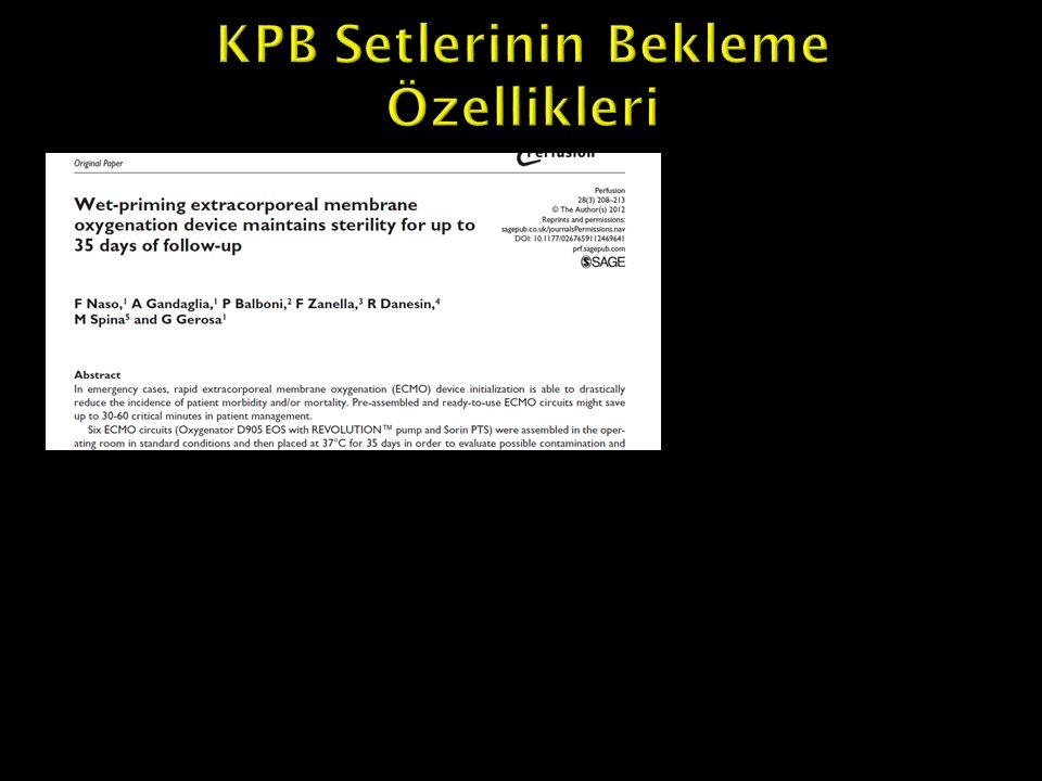 KPB Setlerinin Bekleme Özellikleri