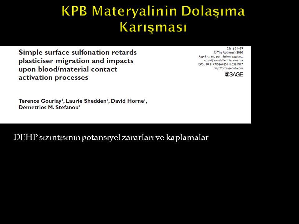 KPB Materyalinin Dolaşıma Karışması