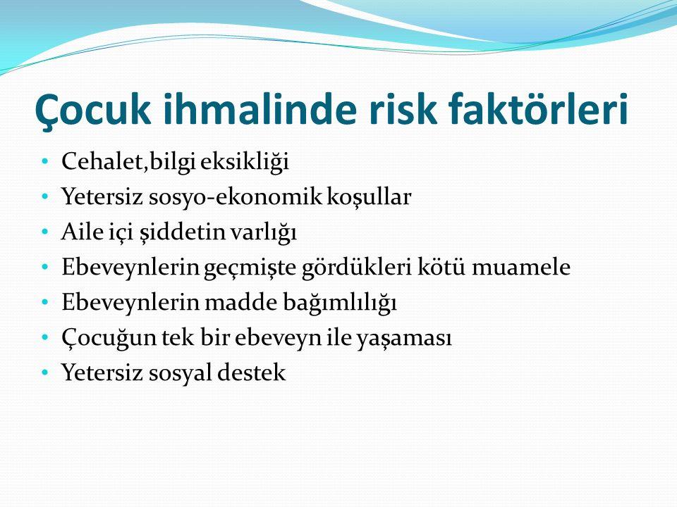 Çocuk ihmalinde risk faktörleri