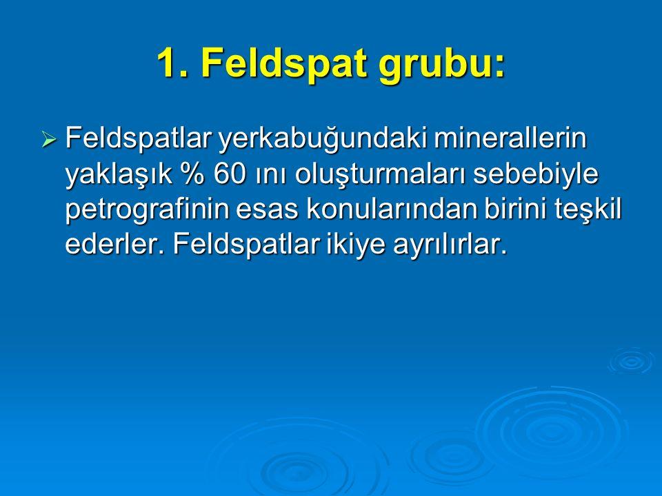 1. Feldspat grubu: