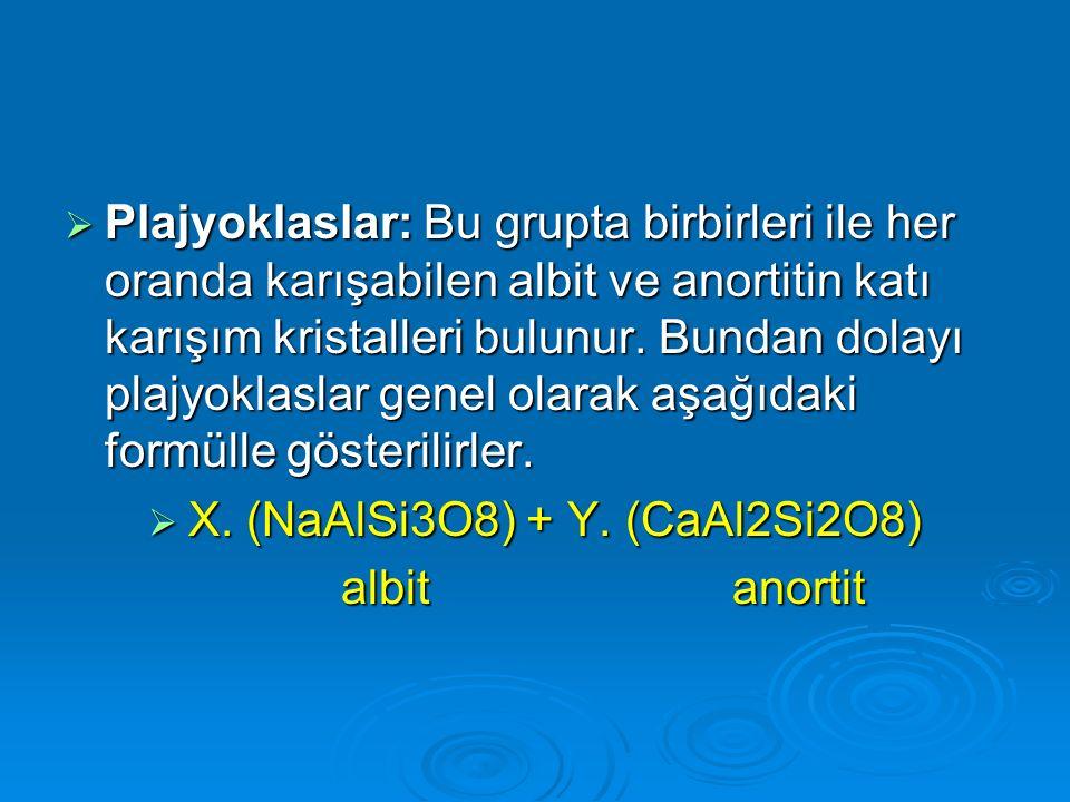 X. (NaAlSi3O8) + Y. (CaAl2Si2O8)