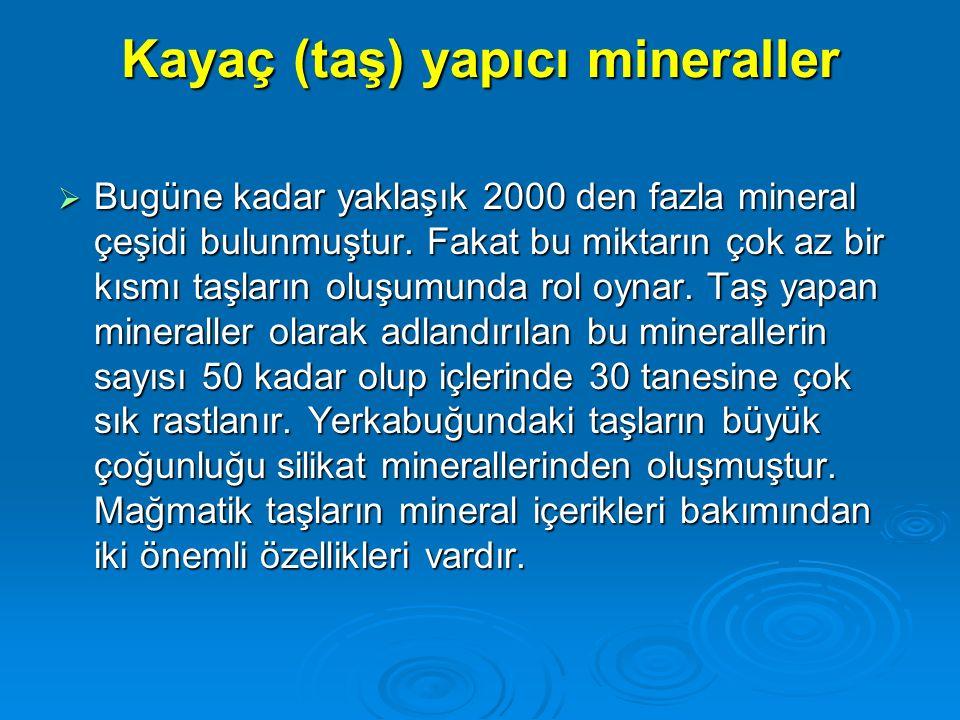 Kayaç (taş) yapıcı mineraller
