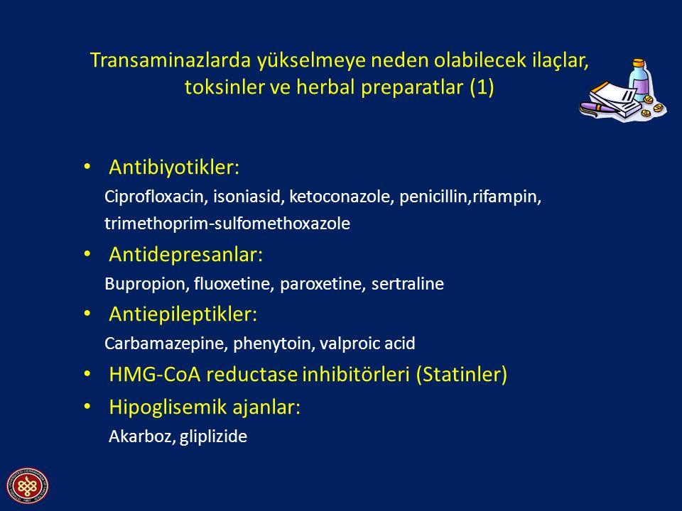 HMG-CoA reductase inhibitörleri (Statinler) Hipoglisemik ajanlar: