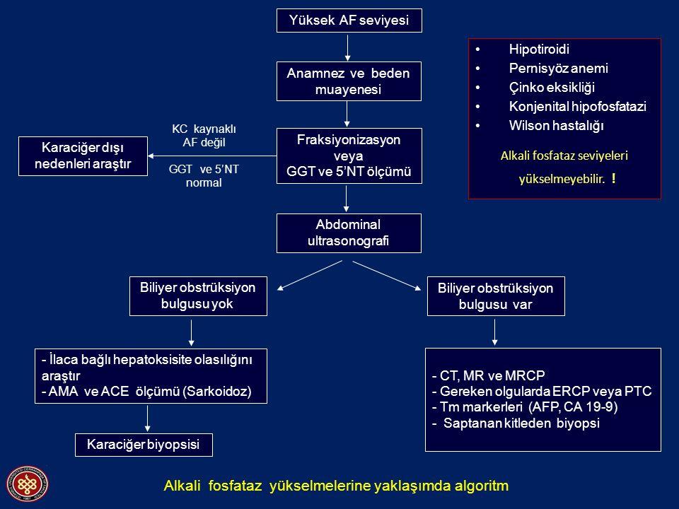 Alkali fosfataz seviyeleri
