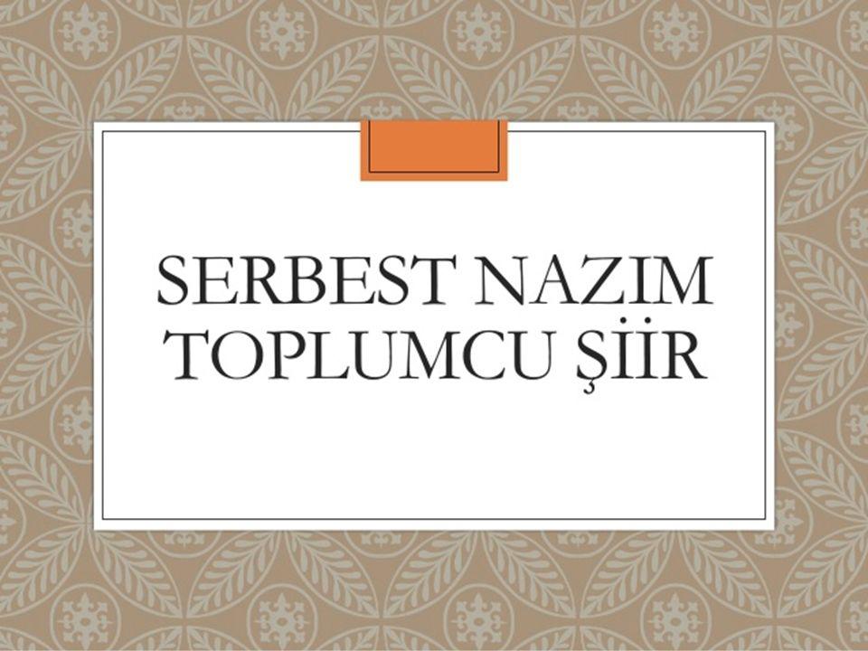 TOPLUMCU GERÇEKÇİ ŞİİR