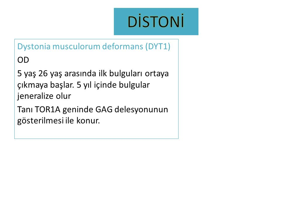 DİSTONİ
