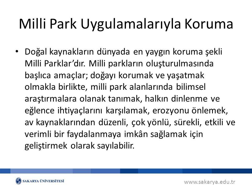 Milli Park Uygulamalarıyla Koruma