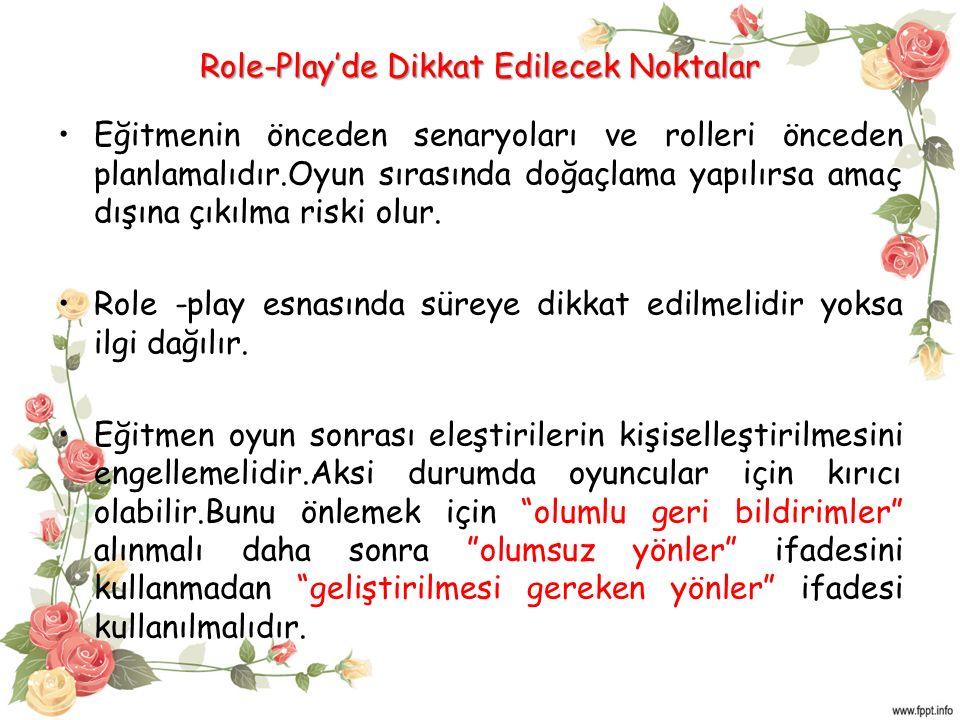 Role-Play'de Dikkat Edilecek Noktalar