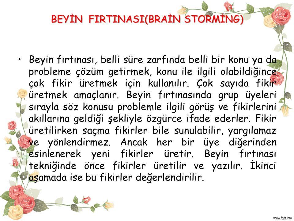 BEYİN FIRTINASI(BRAİN STORMİNG)