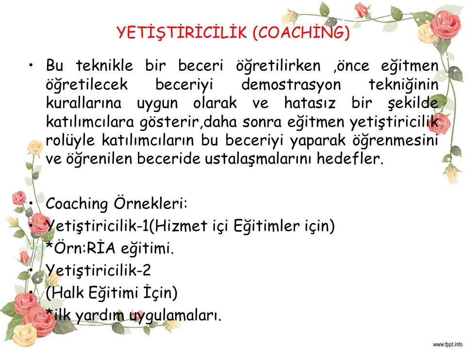 YETİŞTİRİCİLİK (COACHİNG)