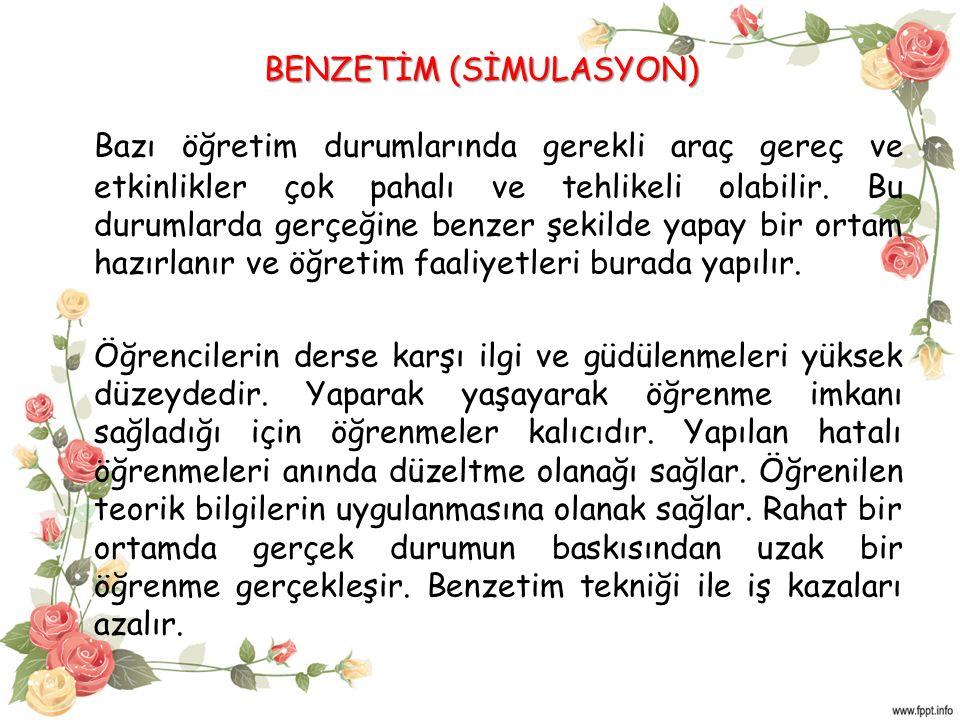 BENZETİM (SİMULASYON)