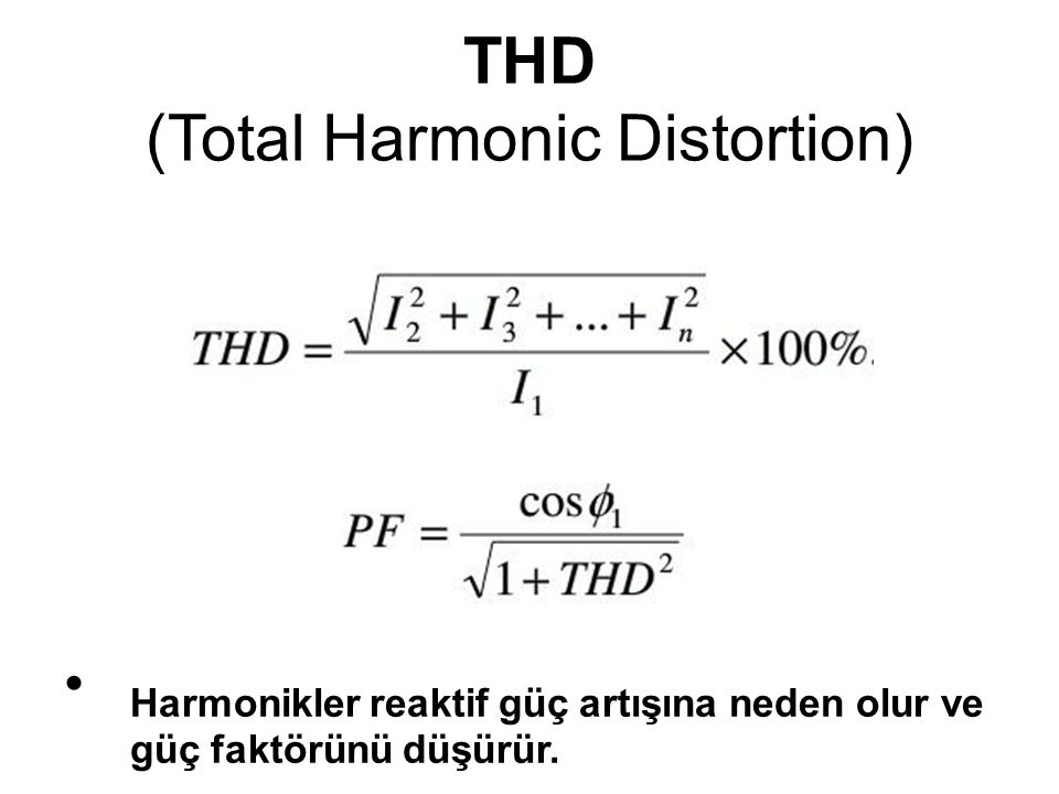 THD (Total Harmonic Distortion)