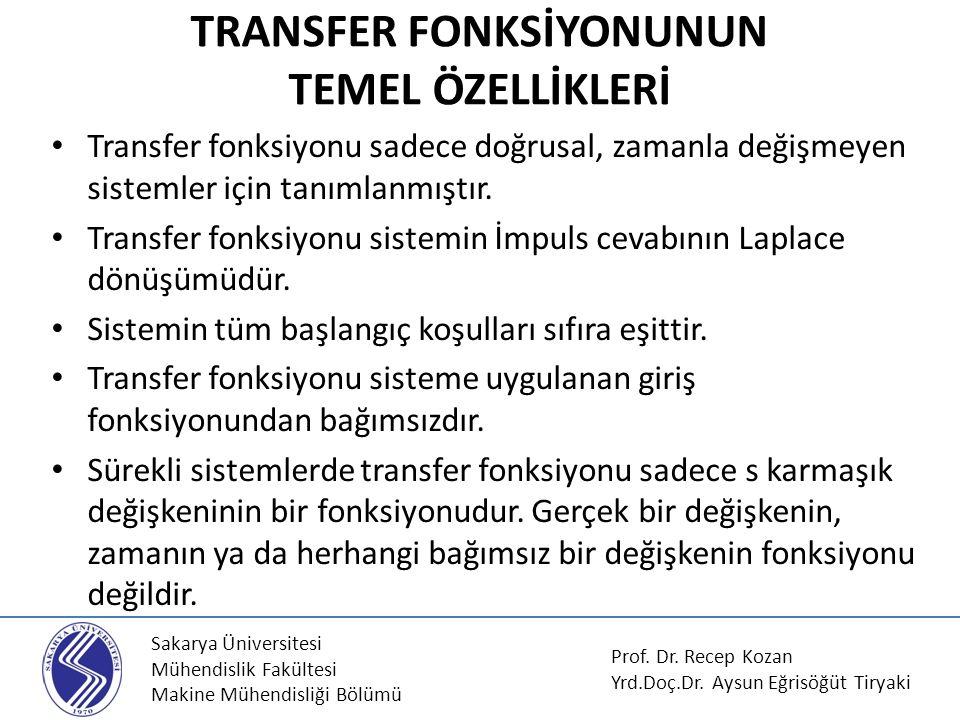 TRANSFER FONKSİYONUNUN