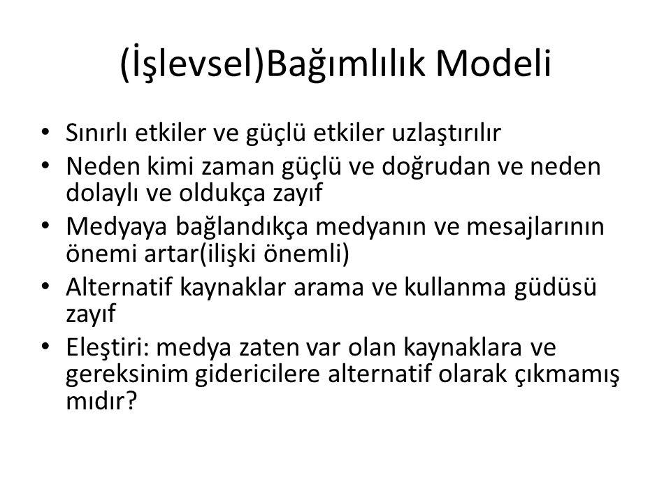 (İşlevsel)Bağımlılık Modeli