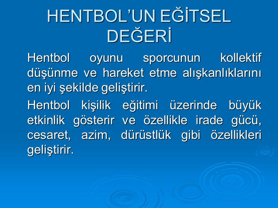 HENTBOL'UN EĞİTSEL DEĞERİ