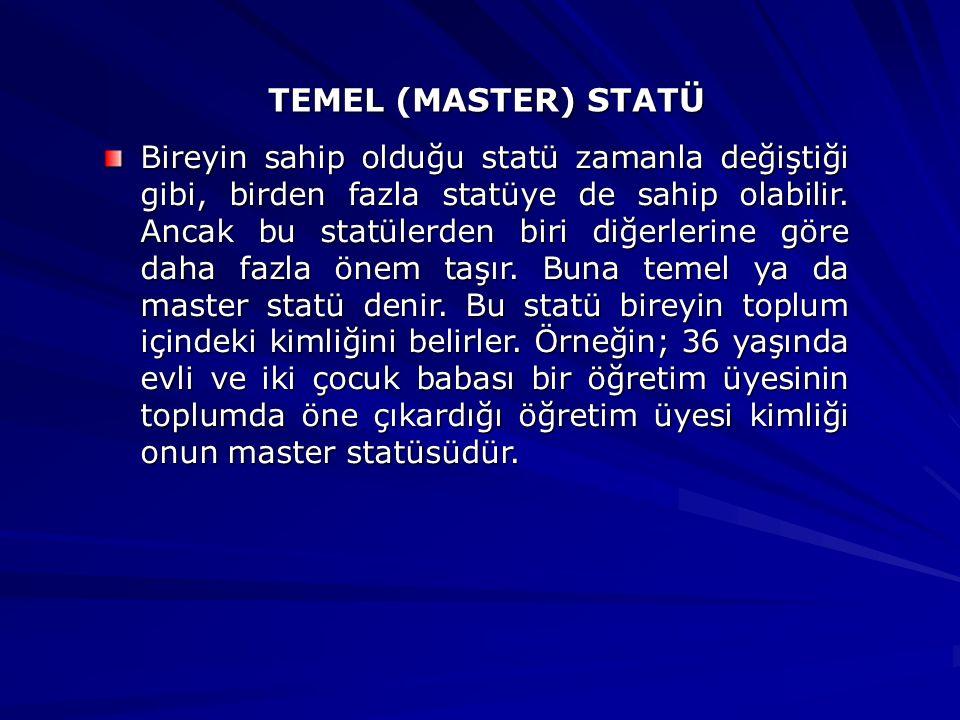 TEMEL (MASTER) STATÜ