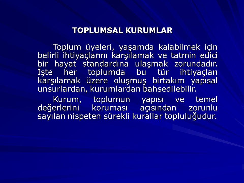 TOPLUMSAL KURUMLAR