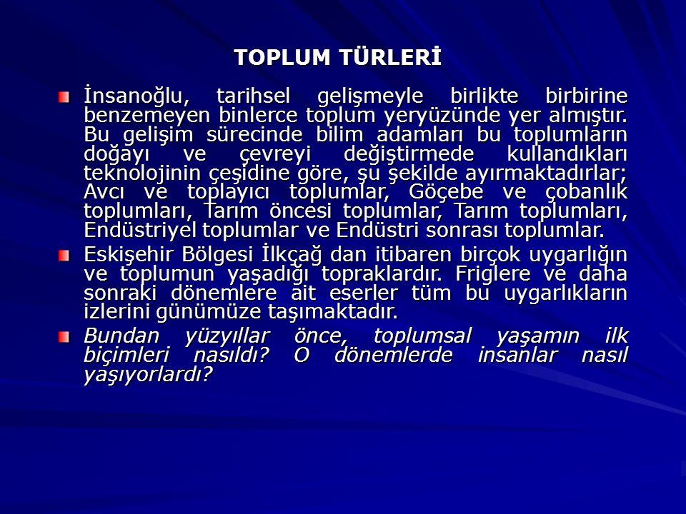 TOPLUM TÜRLERİ