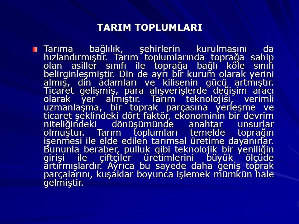 TARIM TOPLUMLARI
