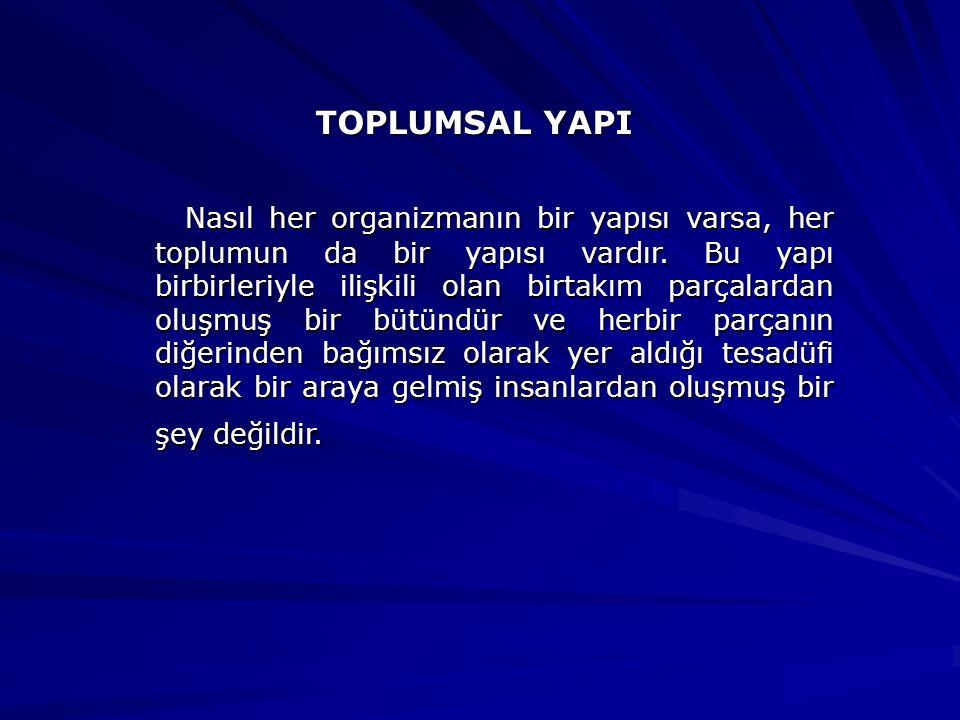 TOPLUMSAL YAPI