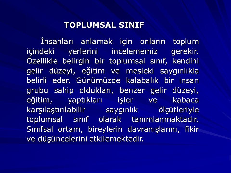 TOPLUMSAL SINIF
